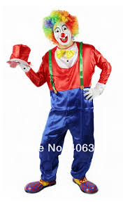 Ladies Clown Halloween Costumes Free Shipping Cosplay Clown Party Clothes Including Red Blue