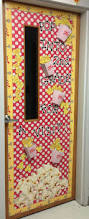 back to door decor made with dollar store popcorn boxes