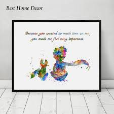 amazon com the little prince with fox inspired quote watercolor