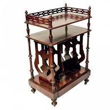 rosewood tall end table coffee brown antiques furnishings furniture american victorian trocadero