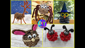 diy fan pine cone crafts ideas for kids youtube