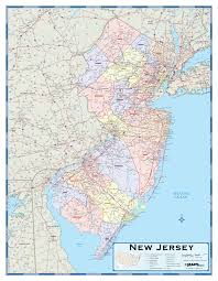New York Counties Map New Jersey Counties Wall Map Maps Com