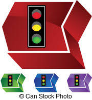 Traffic Light Clipart Vectors Of Light Traffic Sign Isometric Icon 3d On A Transparent
