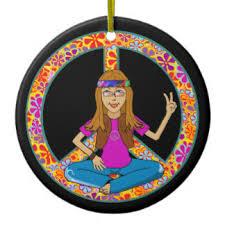 hippie peace sign ornaments keepsake ornaments zazzle