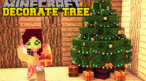 minecraft christmas tree decoration challenge toy trains
