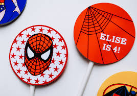 personalized cupcake toppers spider printable personalized cupcake toppers or temporary