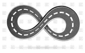 infinity sign road in shape of infinity sign vector clipart image 75576 u2013 rfclipart