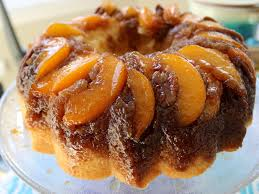 peach pecan upside down bundt cake pinterest pecans