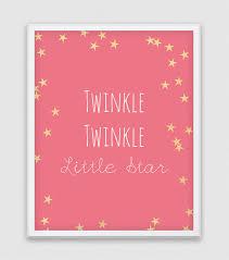 Twinkle Little Star Nursery Decor Twinkle Twinkle Little Star Print Little Star Wall Art