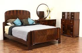 sold art deco 1935 vintage bedroom set queen bed tall chest