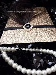 gatsby invitations gatsby invitation luxury pebble embellishment feather
