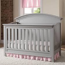Kinsley Chevron Bedroom Set Gray Simmons Kids Chevron 4 In 1 Convertible Crib N More Hayneedle