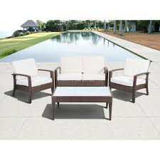 atlantic contemporary lifestyle florida deluxe brown 4 piece all