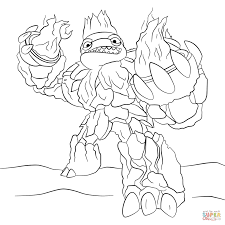 skylanders giants head coloring page free printable coloring