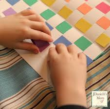 crafts for kids rainbow place mat