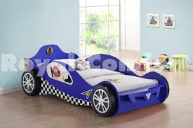 Kid Car Bed Blue Kids Racing Car Beds Frame Childrens Toddler Bed Frame For
