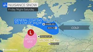 Wildfire Band Bremen by Cold Air To Set The Stage For Weekend Snow Across Northern Germany