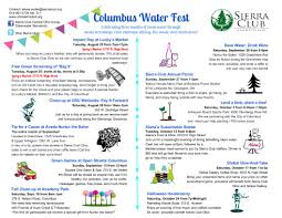 columbus water fest sierra club