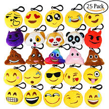 amazon com dreampark emoji keychain mini cute plush pillows key