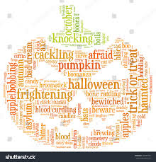 free halloween background for word halloween word cloud illustration shape orange stock illustration