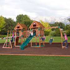 backyard discovery kings peak all cedar wood playset pictures with