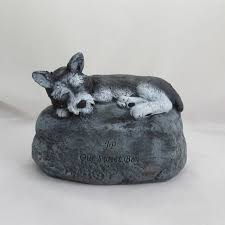 cremation urns for pets ceramic engraved miniature schnauzer painted bottom loading