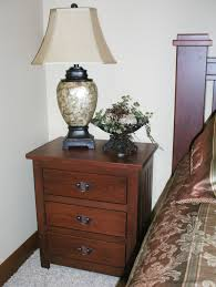 mission nightstand with drawers solid wood nightstand in the