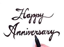 how to draw happy anniversary