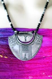 vintage silver pendant necklace images Very old tuareg silver pendant tribal jewelry necklace from africa JPG