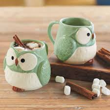 owl mug mint green owl mugs set of 2 vivaterra