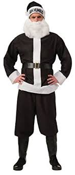 amazon com rubie s bah humbug santa suit black white standard