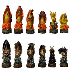 unusual chess sets fantasy and mythology chess sets and pieces