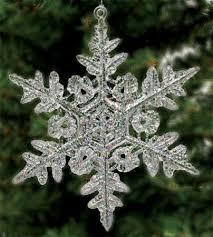 iridescent snowflake ornaments ornaments
