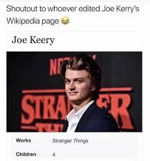 Wikipedia Meme - dopl3r com memes shoutout to whoever edited joe kerrys wikipedia