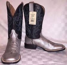 womens square toe boots size 12 stetson s boots ebay