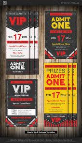 admit one vip ticket invitation template u2014 photoshop psd company