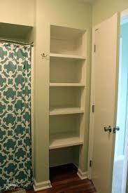 Bathroom Closet Shelves Topsail Condo Renovation Open Closets Closet Shelves And