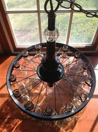 Glass Bottle Chandelier Super Cool Glass Bottle Chandelier Realized With A Bicycle Rim
