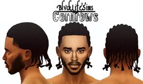 sims 4 blvcklifesimz hair sims 4 cc s the best cornrows and pulled back dreads hair for