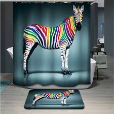 popular shower curtain horse buy cheap shower curtain horse lots eco friendly 3d thicken shower curtain polyester zebra shower curtain waterproof home bathroom accessories horse