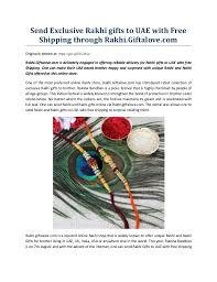 send exclusive rakhi gifts to uae with free shipping through rakhi gi