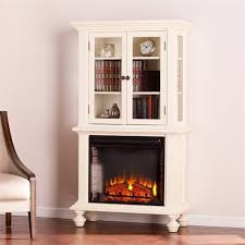 White Electric Fireplace With Bookcase U0026 Fireplaces Home Garden Category Offers Deals