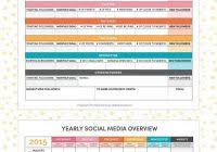 social media calendar template download and social media report