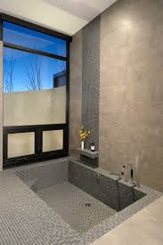 Sunken Bathtub Sunken Bathtub With Shower Shelf Bathroom Contemporary And Modern