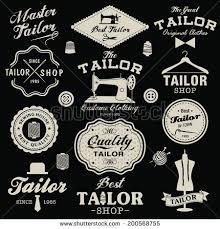 vintage design collection vintage retro tailor labels badges stock vector