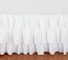 Baby Crib Bed Skirt Ruffle Crib Skirt Pottery Barn