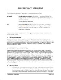 Non Disclosure Statement Template by Confidentiality Agreement For Consultants Contractors Template
