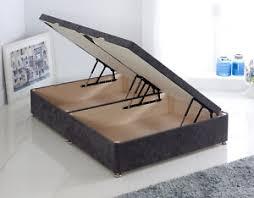 ottoman divan chenille gas side lift storage bed 3ft 4ft 4ft6