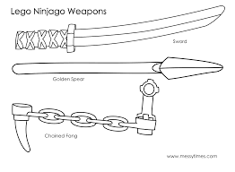 12 images of ninjago golden weapons coloring pages lego ninjago