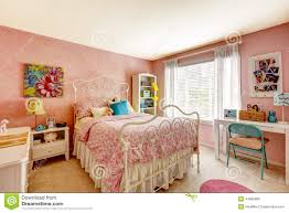 bedroom interior in light pink color stock photo image 44890985